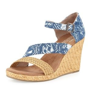 TOMS Clarissa Wedge Sandal Baltic Blue
